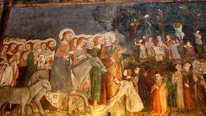 Einzug Jesu in Jerusalem auf einem Esel