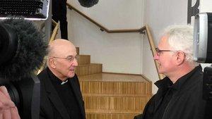Bischof Felix Genn begenete dem Missbrauchsopfer Martin Schmitz aus Rhede. | Foto: Christof Haverkamp