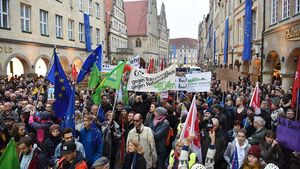 Demonstration gegen AfD in Münster