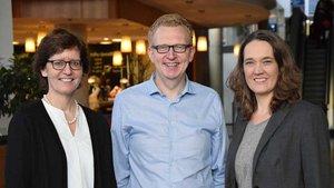 Leitung der Projektgruppe (von links): Dr. Ulrike Teßarek (Netzwerkmanagement), Gerold Gesing (Krankenhausseelsorge) und Claudia Berghorn (Referentin Kommunikation).