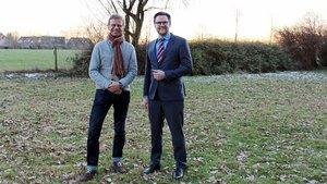 Ein schöner Ort für das Projekt mit den Tieren: Theologe und Biologe Rainer Hagencord (links) und Daniel Steinke, pädagogischer Leiter von Haus Mariengrund. | Foto: Annette Saal
