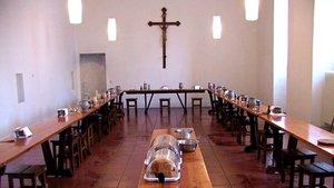 Der Speisesaal (Refektorium) der Mönche von Mariawald
