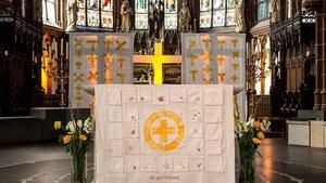 Altarraum der Kirche St. Gudula in Rhede.