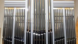 Blick auf den Orgelprospekt. | Foto: Claudia Maria Korsmeier