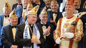 Empfang der münsterschen Karnevalisten im Bischofshaus. | Foto: pbm