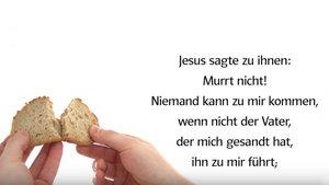 Das Evangelium vom 19. Sonntag im Jahreskreis (B) zum Hören und Sehen auf unserem Youtube-Kanal.