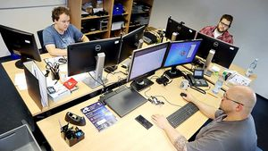 Computer-Experten des Bischöflichen Offizialats in Vechta.