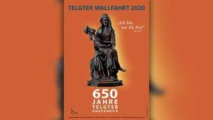 Plakat der diesjährigen Telgter Wallfahrt zum Jubiläum 650 Jahre Telgter Gnadenbild.
