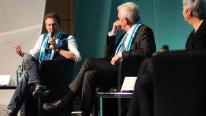 Kabarettist Eckart von Hirschhausen auf einem Podium beim Katholikentag 2018. | Foto: katholikentag.de