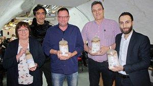Maria Voß, Pablo Gamsjäger, Thomas Aders, Bernd-Uwe Seeger und Ziayd Hasso.