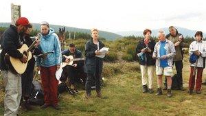 """Pilgerpause mit Musik und """"Kirche+Leben""""-Redakteur Bernd Schumacher (rechts).   Foto: privat"""