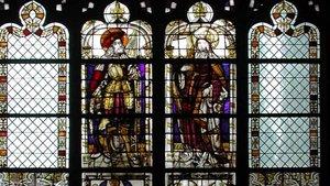 Dieses Fenster wurde dem Wappen zufolge von Goedert van Bemmel und seiner Frau Lysbeth von Kleve um 1520 gestiftet. | Foto: Dombauhütte