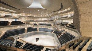 Großer Saal der Elbphilharmonie in Hamburg. Die Orgel ist größtenteils hinter und neben den Zuschauerrängen eingebaut. | Foto: Iwan Baan