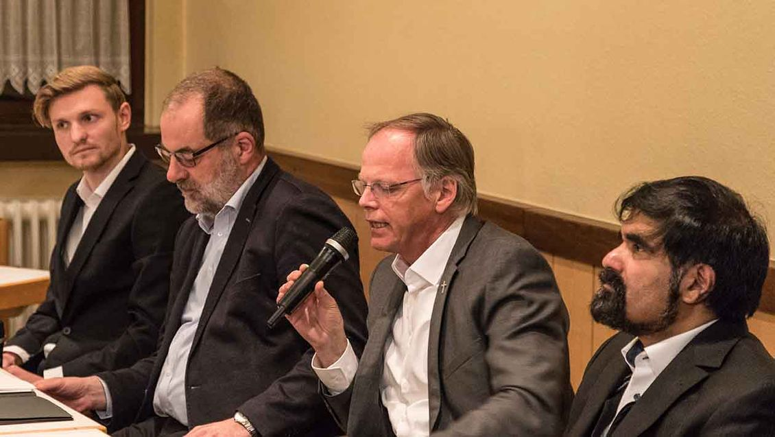 Infoabend zum Missbrauch mit (von links): Jan Niestegge, Peter Frings, Klaus Winterkamp, Pater Shaji George Foto: Christof Haverkamp