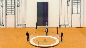 Ein Foucaultsches Pendel für die Dominikanerkirche: hier ein Ausschnitt aus dem Entwurf des Künstlers. | Foto: Presseamt Münster/Maike Brautmeier