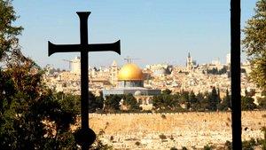 Blick vom Ölberg auf Jerusalem.