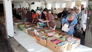 der Büchermarkt des vergangenen Jahrs im Kloster Gerleve.