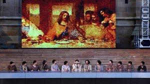 Nachstellung des Letzten Abendmahls Jesu mit seinen Jüngern während des Weltjugendtags 2008 in Sydney
