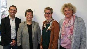 Kita-Finanzexperten (von links): Jan Gebker, Jutta Wittkamp, Heike Wiesmann und Martina Radhoff.   Foto: Jens Joest