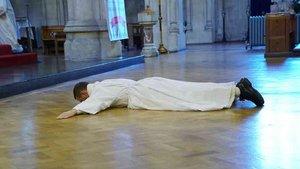 Philip Mulryne bei seiner Weihe zum Diakon.