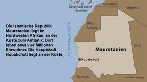 Karte Mauretanien.