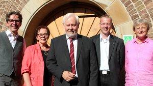Der Vorstand der Ländlichen Familienberatung (von links): Präses Bernd Hante, Margret Leifker, Johannes K. Rücker, Bernd Bettmann und Irmgard Hüppe. | Foto: pd