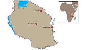 Das Ziel ist ein kleines Dorf nahe Arusha im Norden Tansanias. | Grafik: Eva Lotta Stein