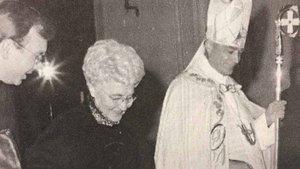 Christoph Hegge (von links) mit Chiara Lubich und dem damaligen Bischof Reinhard Lettmann