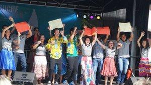 Beim Katholikentag konnte die KLB und die KLJB Gäste aus Brasilien begrüßen. | Foto: Melanie Ploch