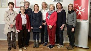 Das Team: Adelheid Boesing (von links), Annette Oslowski, Gabrielle Schierstaedt, Elke Fischer, Cordule Stening, Christa Wilbertz, Magdalena Lehmenkühler und Stefanie Glabmeier. | Foto: Malteser