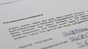 Das Anmeldeformular für ein Privatquartier. | Foto: Melanie Ploch