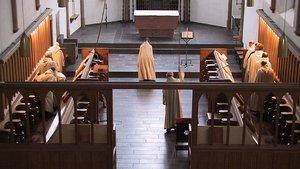 Blick in das Chorgestühl der Abtei Mariawald.
