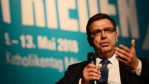 Erster AfD-Politiker beim Katholikentag: Volker Münz. | Foto: Michael Bönte