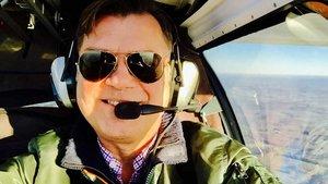 Unser Autor als Pilot eines Ultraleichtflugzeugs. | Foto: Markus Nolte