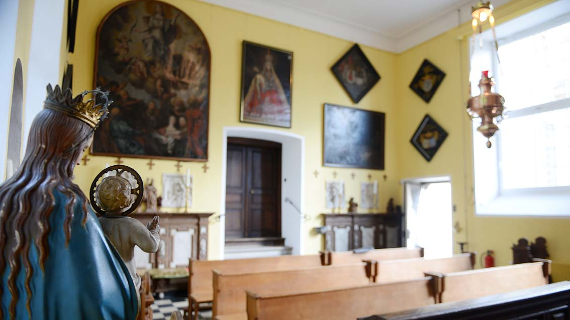 Die Muttergottes in der Hauskapelle.