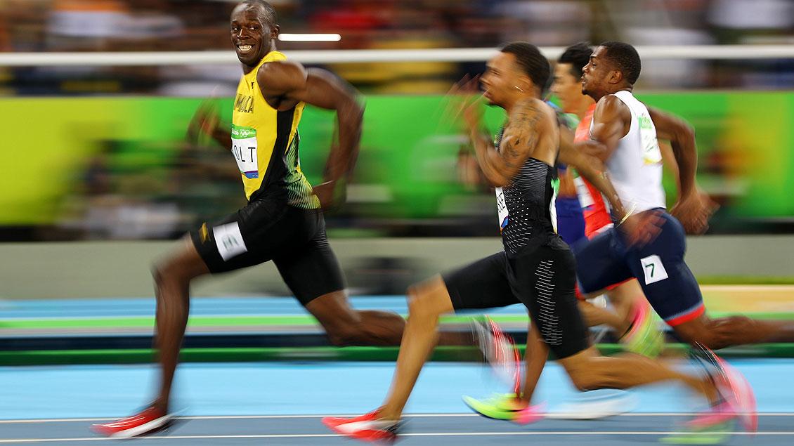 Bild: Olympiasieger im 100-Meter-Sprint: Usain Bolt (links).