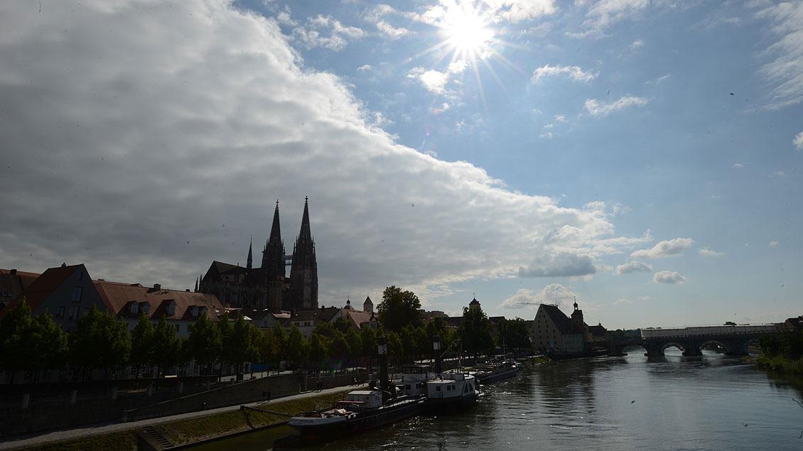 Blick auf Regensburg und den Dom