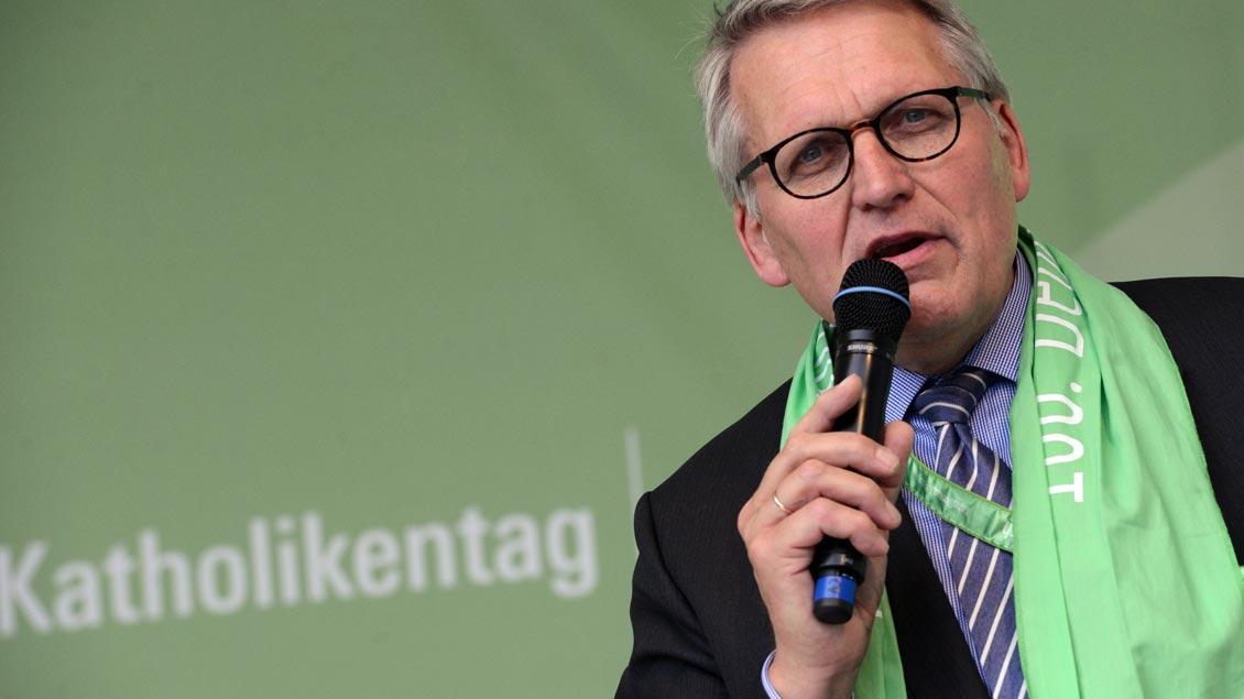 Foto: ZdK-Präsident Thomas Sternberg auf dem Katholikentag in Leipzig.