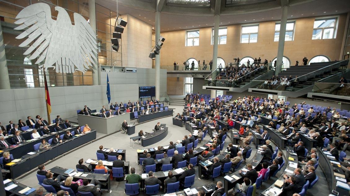 Plenarsaal im Reichstagsgebäude.