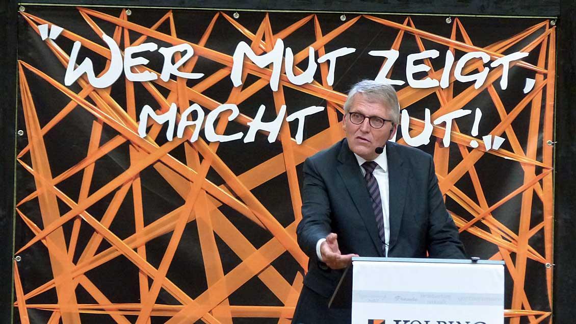 ZdK-Präsident Thomas Sternberg beim Kolpingtag in Cappeln. Franz Josef Scheeben