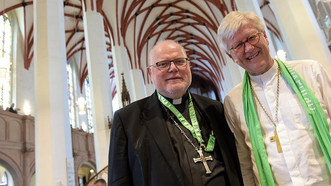Kardinal Reinhard Marx (links) und Bischof Heinrich Bedford-Strohm