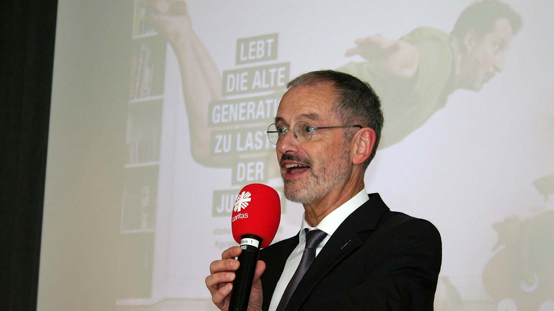 Caritas-Präsident Prälat Peter Neher. Foto: Jens Joest