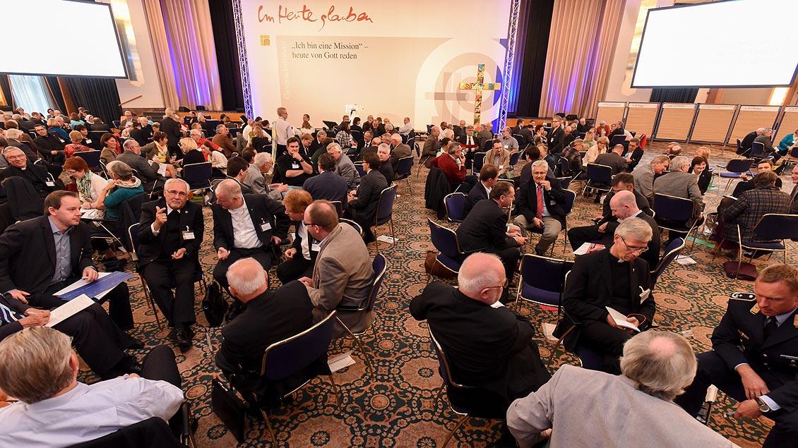 """Zum Dialogprozess unter dem Motto """"Ich bin eine Mission"""" kamen in den vergangenen Jahren Laien und Bischöfe zu intensiven Diskussionen zusammen."""