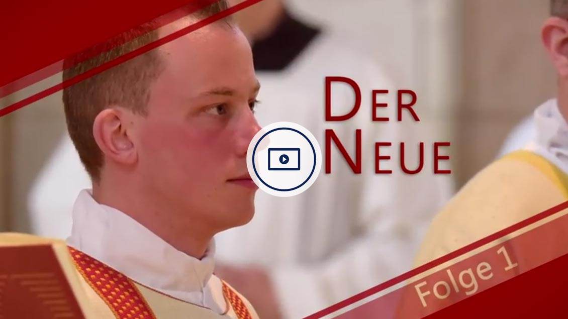 Sebastian Frye bei seiner Weihe zum Diakon.