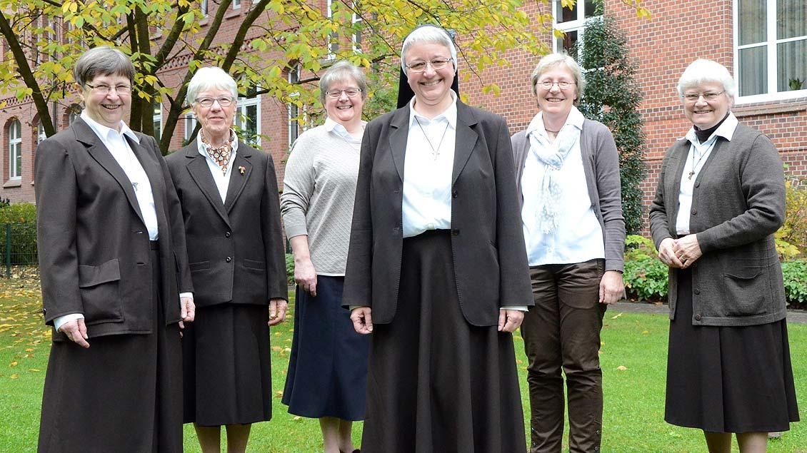 Die Schwestern der Provinzleitung der Lüdinghauser Franziskanerinnen