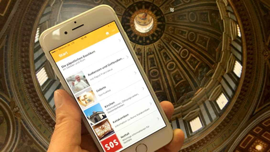Eine neue App liefert Pilgern zahlreiche Informationen über Rom.