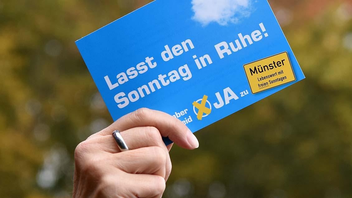 Kampagne zum Bürgerentscheid in Münster.