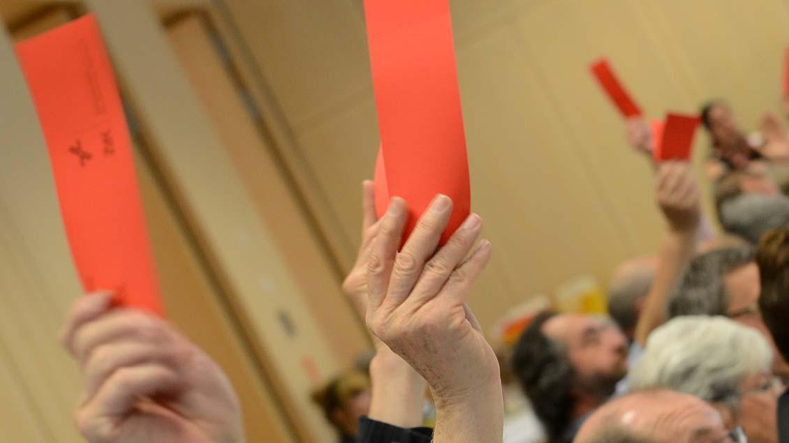 """""""Rote Karte"""" für einen städtischen Geld-Zuschuss für den Katholikentag 2018 in Münster."""