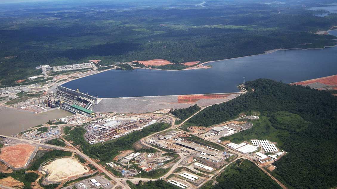 Das Wasserkraftwerk Belo Monte wird derzeit gebaut.