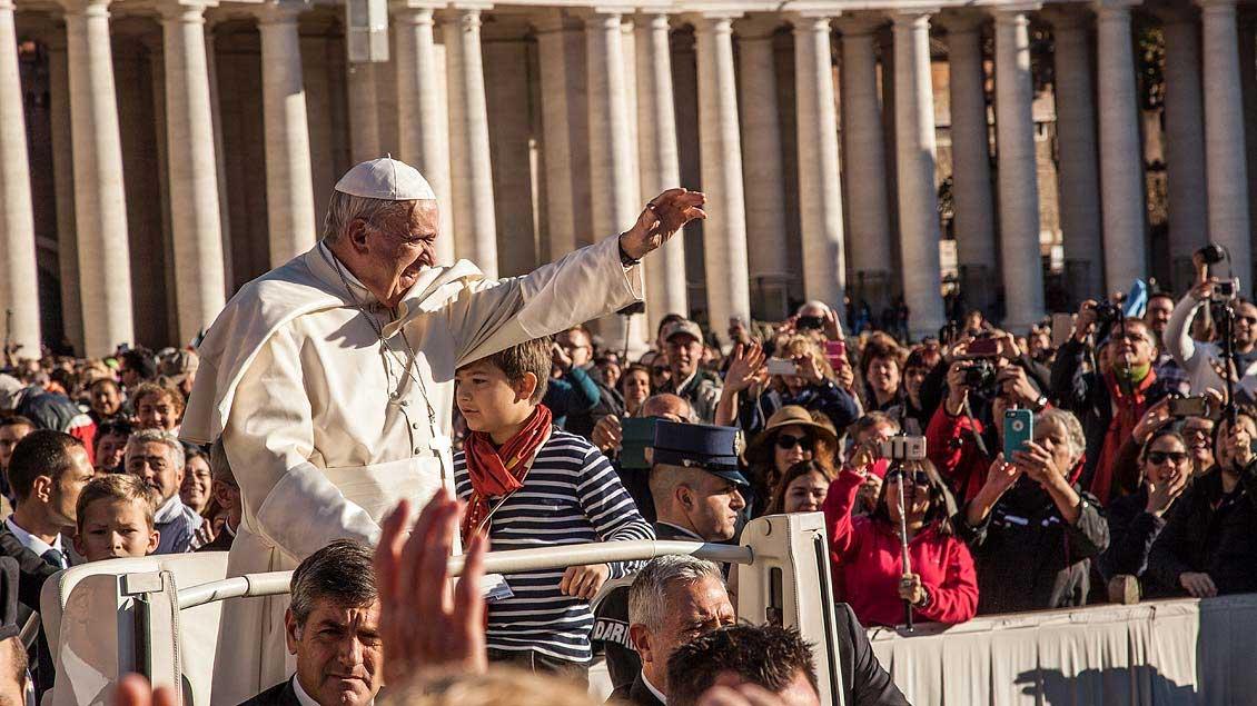 Viele der Wallfahrer freuen sich darauf, Papst Franziskus zu sehen.